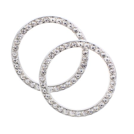 MINI-FACTORY (2 Pcs) Bling Car Accessories Ignition Start Button Rhinestone Diamond Sticker
