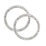 MINI-FACTORY (2 Pcs) Bling Car Accessories Ignition Start Button Rhinestone Diamond Sticker