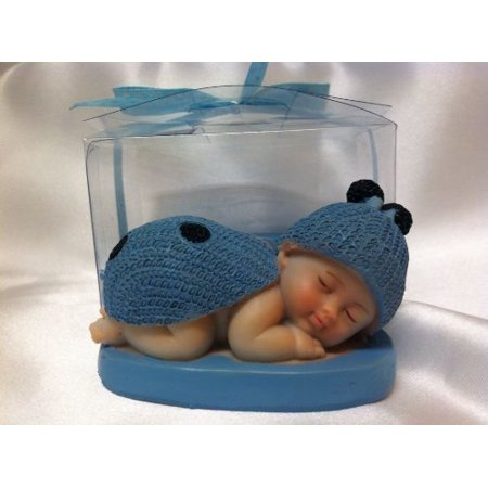 Baby Shower Blue Boy Ladybug Favor in Box Favors Gift Keepsake Favor