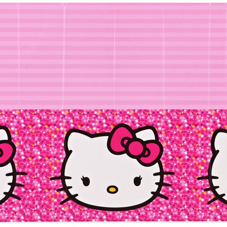 Hello Kitty Plastic Table Cover 54 X 96 Party Supplies Walmart Com