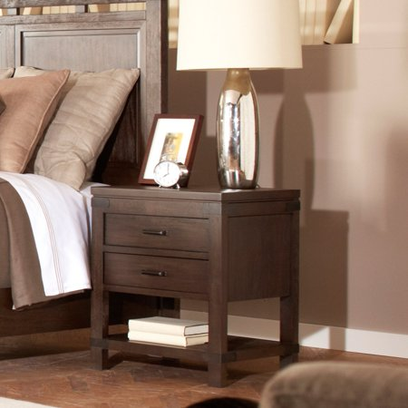 Riverside Promenade 2 Drawer Nightstand - Warm Cocoa