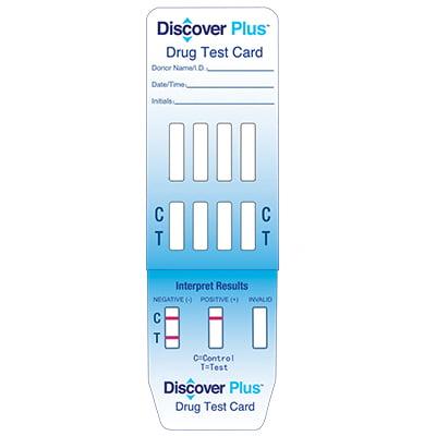 Discover Plus 1 Panel Drug Test Card  Bar