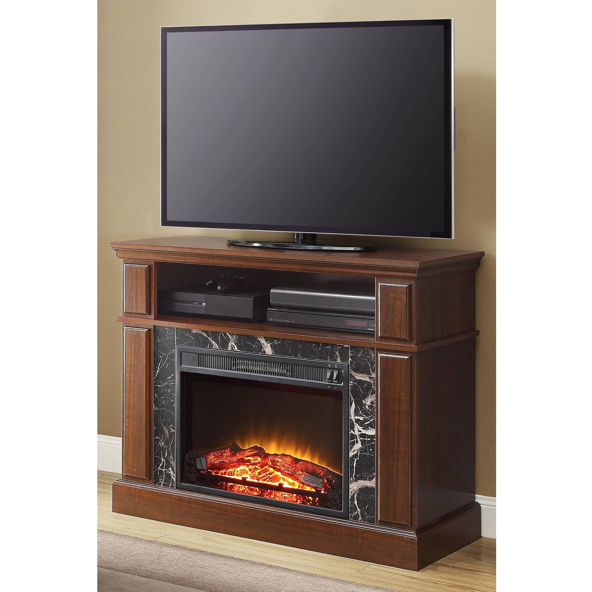 """Mainstays Loring Media Fireplace for TVs up to 50"""", Multiple Finishes Available"""