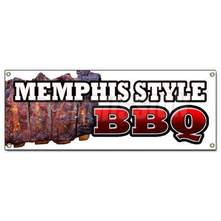 MEMPHIS STYLE BBQ BANNER SIGN beef brisket ribs pork barbque open ...