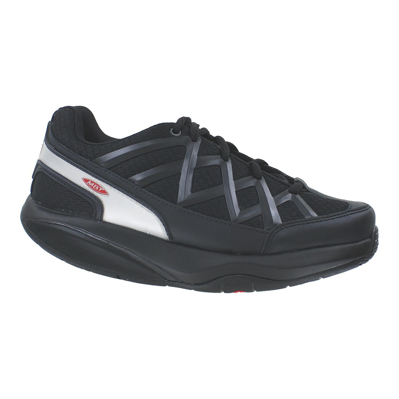 MBT Shoes Women's Sport 3 Comfort Width Athletic Shoe: 9 Wide (D) Black/Mesh Lace