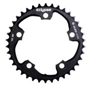 Eclypse, Glide-Pro 130, 53T, 8-10sp, BCD: 130mm, 5 Bolt Outer Chainring, Alloy, Black