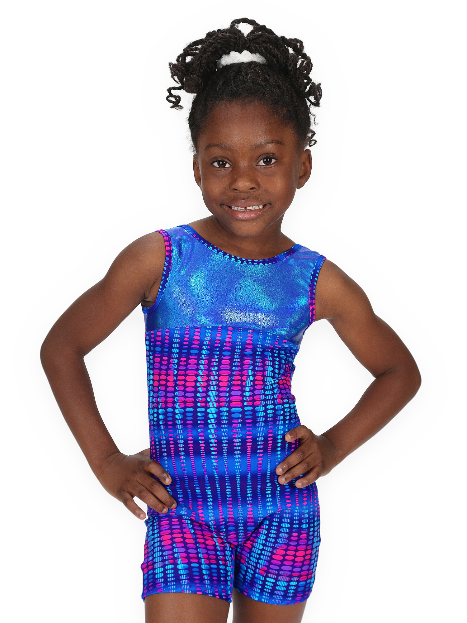 Gymnastics Biketard for Girls - Electric Pulse - Leap Gear - 10 | Adult X-Small