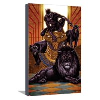 Black Panther No. 1 Cover Art Comic Book Stretched Canvas Print Wall Art By Mark Brooks
