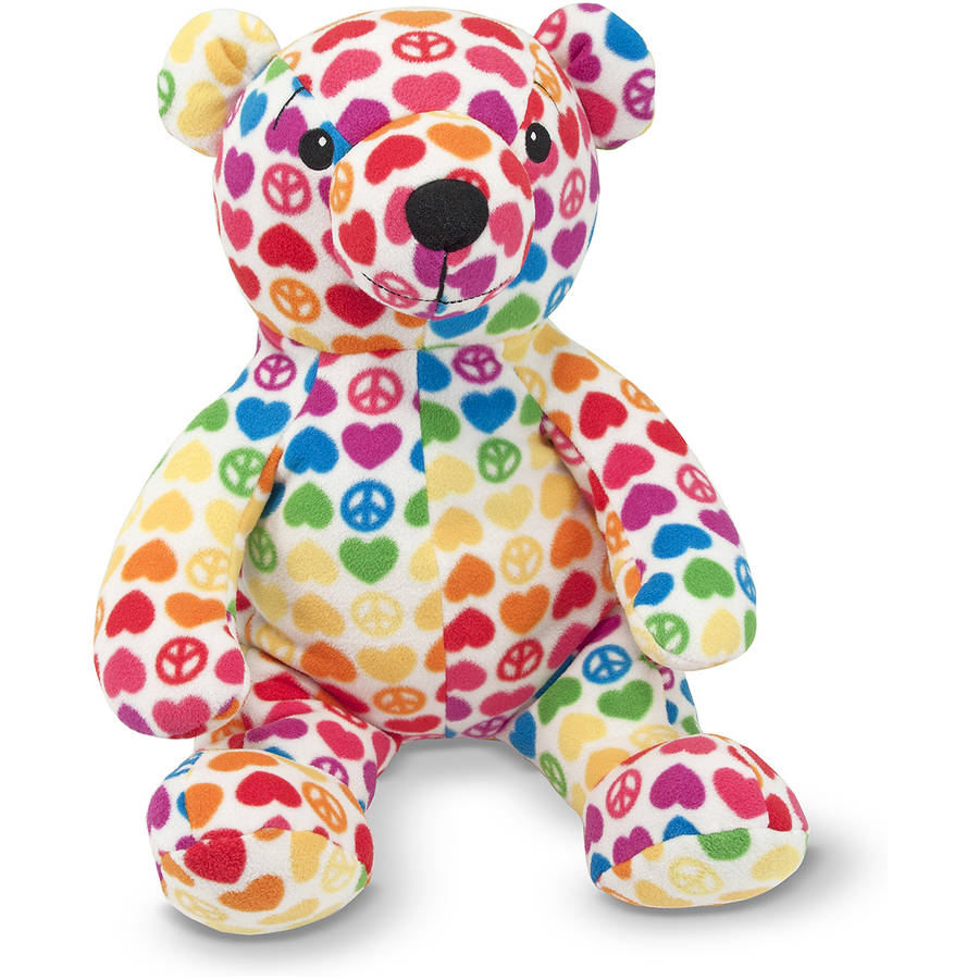 Melissa & Doug Hope Bear Patterned Pal Teddy Bear Stuffed Animal by Generic