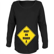 Baby On Board Black Maternity Soft Long Sleeve T-Shirt