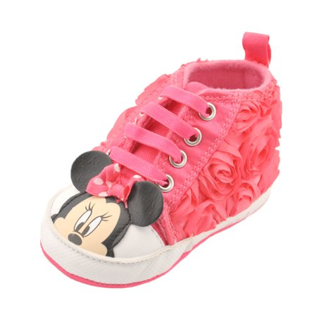 Minnie Mouse Baby Girls   Blooming Minnie   Sneaker Booties