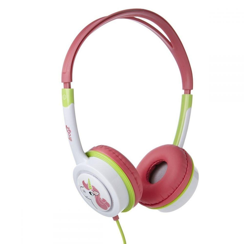 Little Rockers Costume Headphones - Pink/Green, Safe: A built-in governor protects kids ears by not playing music over a safe 85 decibels. Connectivity.., By iFrogz