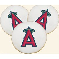 Anaheim Angels Logo Cookies, Shortbread, 12 - USA Delivery