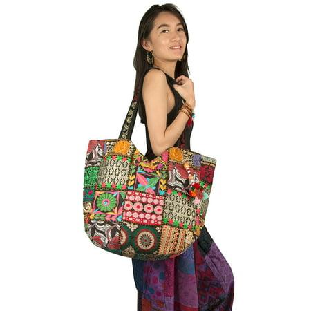 - TribeAzure Large Shoulder Bag Tassel Beach Market School Boho Summer Hippie Tote Handbag Gold Sequins
