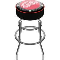 "Trademark Global NHL Throwback Detroit Redwings 31"" Padded Bar Stool"