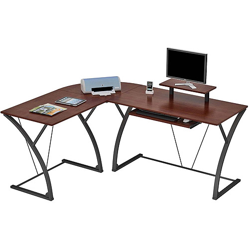 "Edgewood ""L"" Computer Desk, Espresso Finish"
