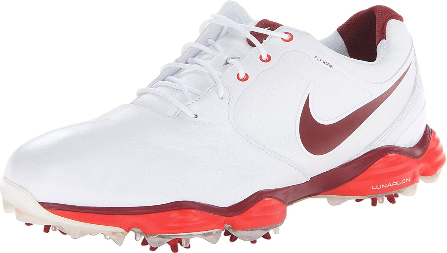 New Nike Lunar Control II Golf Shoes White Challenge Red Team Red 9 M by Nike
