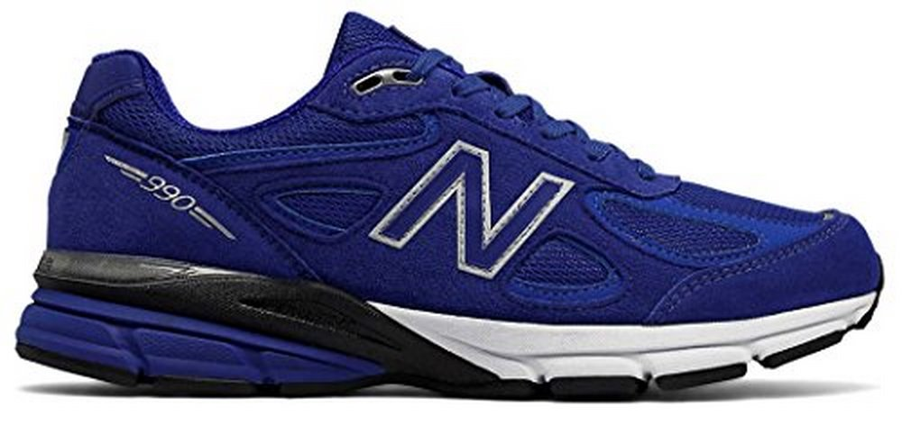 New Balance Mens 990V4 Running Shoe, Uv Blue/Silver, 10  D(M) US