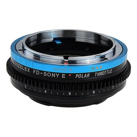 Vizelex Polar Throttle Lens Mount Adapter - Canon FD & FL 35mm SLR lens to Sony Alpha E-Mount Mirrorless Camera Body with Built-In Circular Polarizing (Polar Lens)