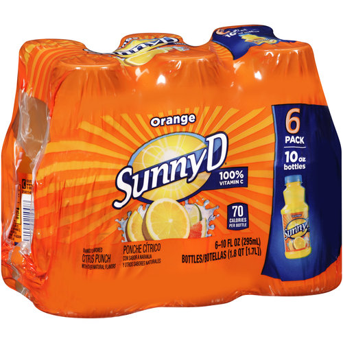 Sunny D Orange Citrus Punch, 10 fl oz, 6 count