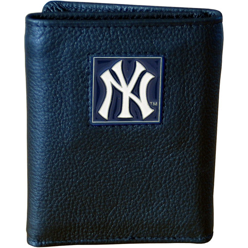 New York Yankees Official MLB  Leather Trifold Wallet by Siskiyou