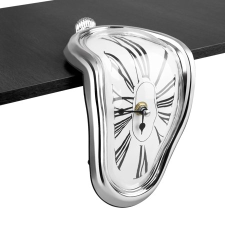 Decorative Melting Clock - Surrealistic Table Shelf Desk Fashion Clock Funny Home Office Desks Watch Best Birthday Gift Idea for Men and