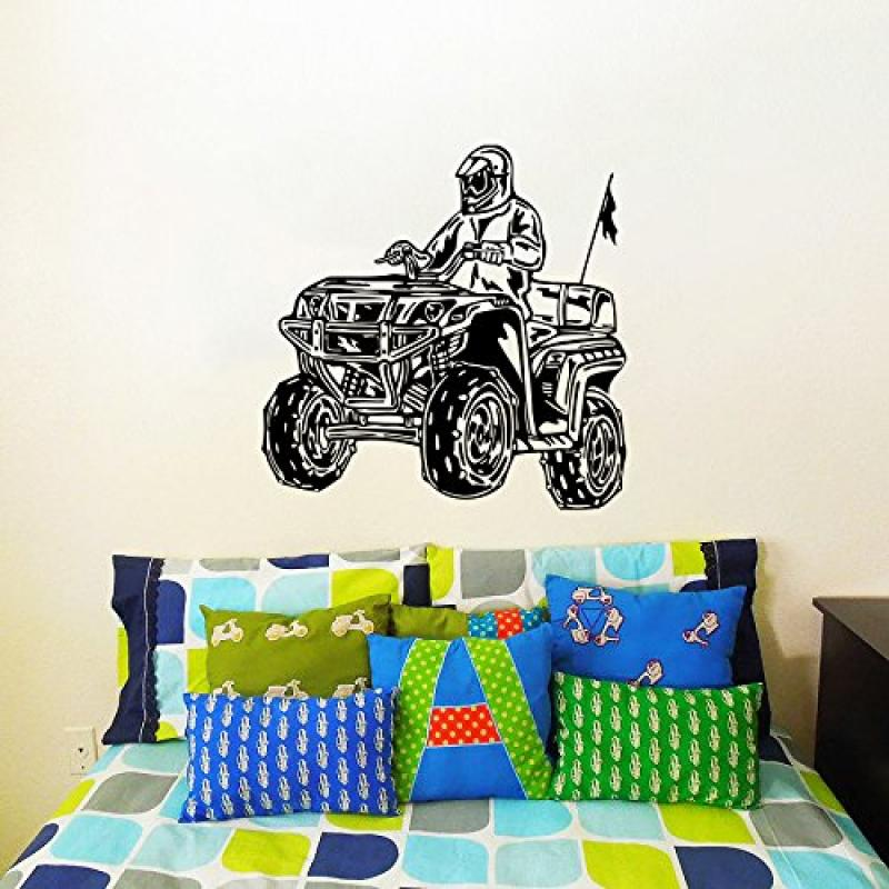 Wall Decals ATV Quad Bike Racing Rider Extreme Speed Jumping Motorbike Kids Boys Room Nursery Wall  sc 1 st  Walmart & Wall Decals ATV Quad Bike Racing Rider Extreme Speed Jumping ...