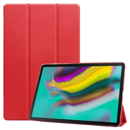 For Samsung Tab S5E 10.5 T720 Ultra-thin PU Leather Bracket Tri-fold Protective Case with Sleep Function red - image 1 de 1