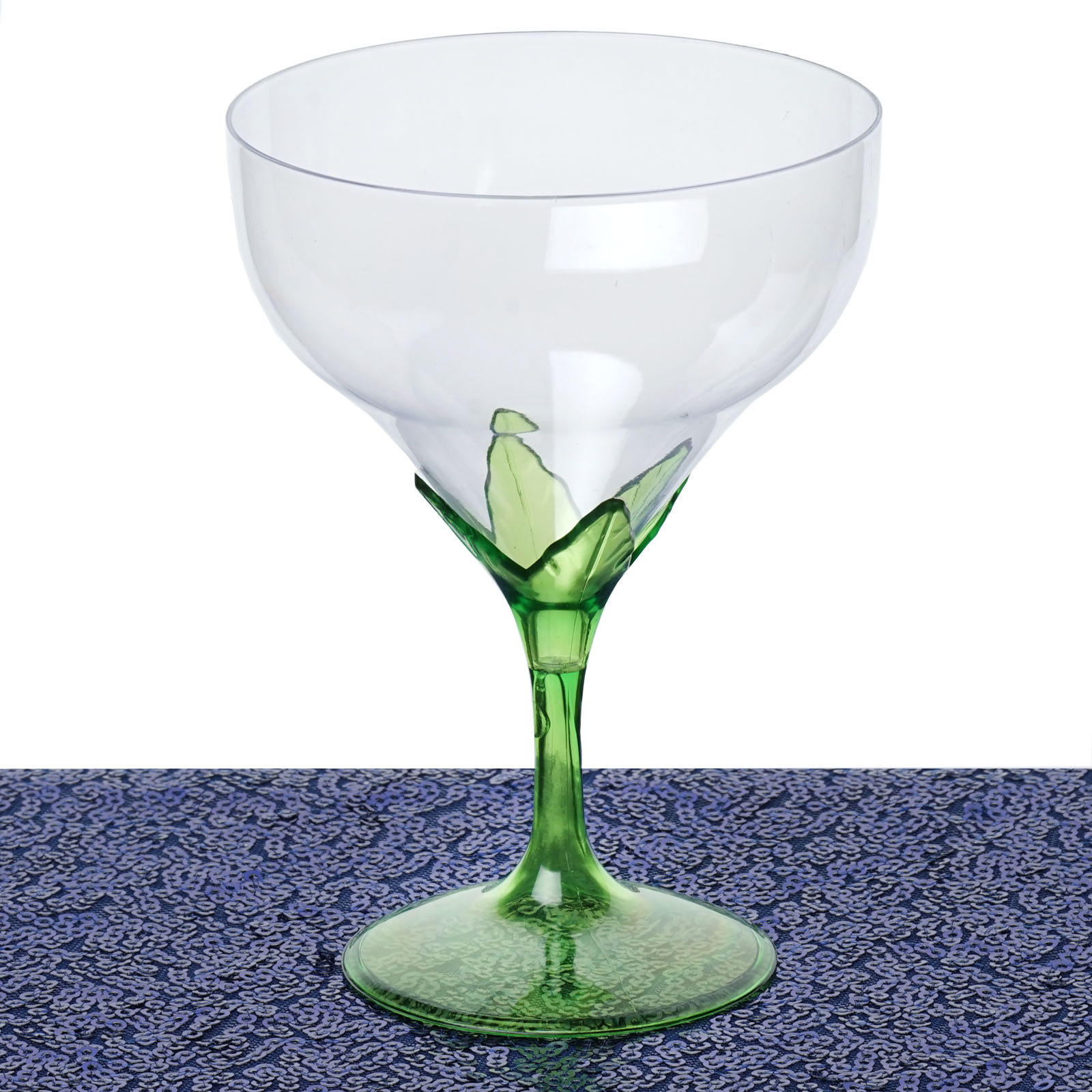 Efavormart 30 Pcs Disposable Clear Plastic  Champagne Goblet for Wedding Birthday Party Banquet Events Cocktail Cups