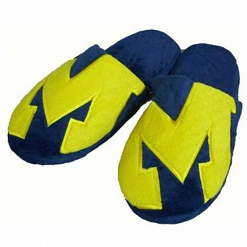 Michigan Wolverines Slippers Super Soft NCAA Licensed Large