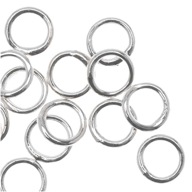 Silver Plated Closed Jump Rings 4mm 22 Gauge (20)