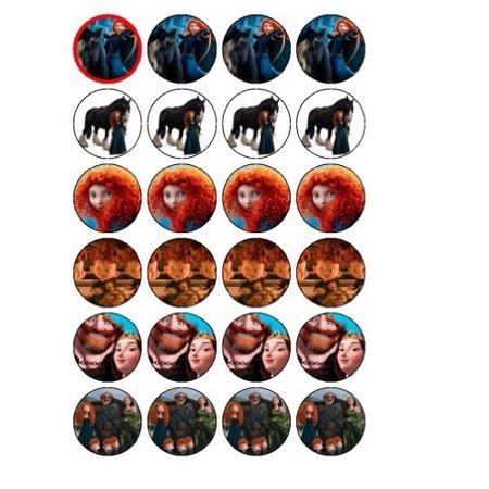 24 Disney Brave Cupcake Toppers (Disney Cupcakes)