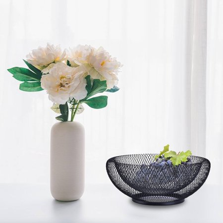 LeKing Wrought Iron Fruit Basket Double Layer Nordic Style Innovative Modern Dried Fruit Candy Storage Plate for Living Room Home - image 2 of 6