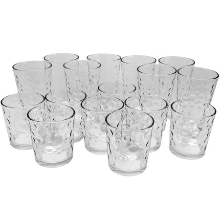 Gibson Home Great Foundations 16 Piece Tumbler and Double Old Fashioned Glass Set in Bubble Pattern ()