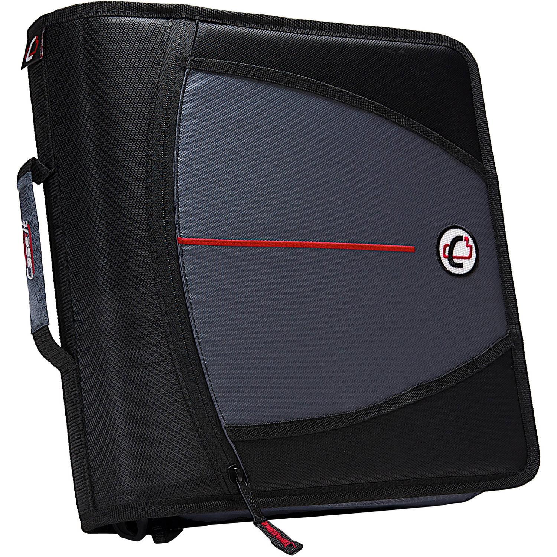 Case-It Mighty Zip Tab 3-Inch Zipper Binder, Black, D-146-BK
