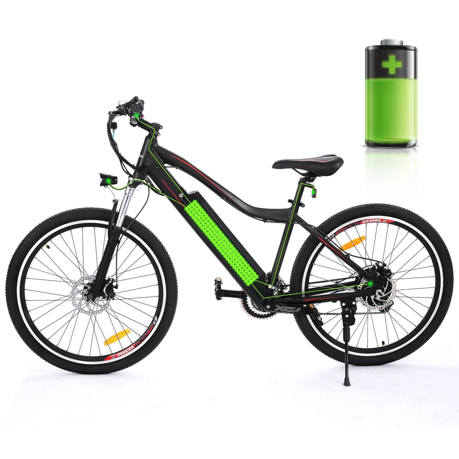 Hascon 26'' Ebike 21-Speed Electric Bike Mountain Bicycle w/Removable Lithium Battery