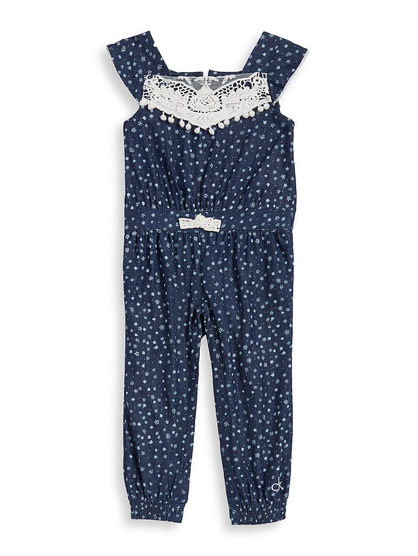 908ccece988 Calvin Klein - Baby Girl s Printed Romper - Walmart.com