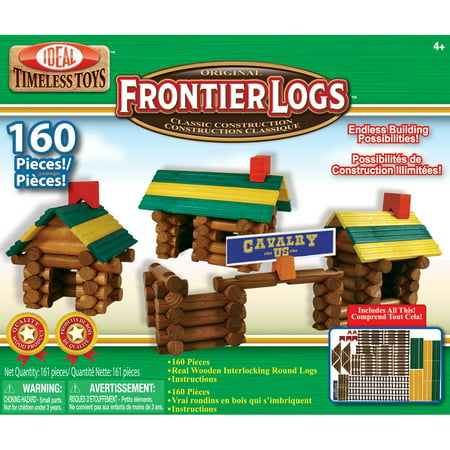 Frontier Logs 160 Piece Classic Wood Building Set](Wood Building Kits)