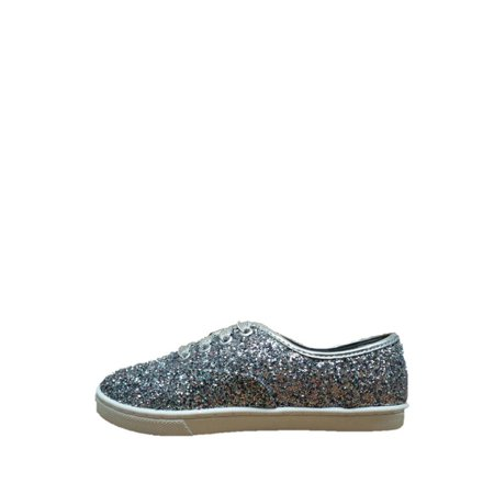 Wonder Nation Girls' Sparkle Canvas Casual Shoe