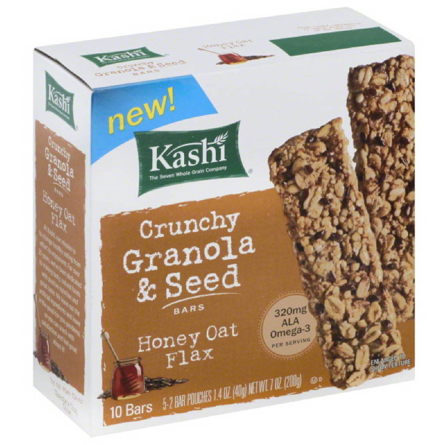 Kashi Crunchy Granola & Seed Honey Oat Flax Bars, 7 oz, (Pack of 12)