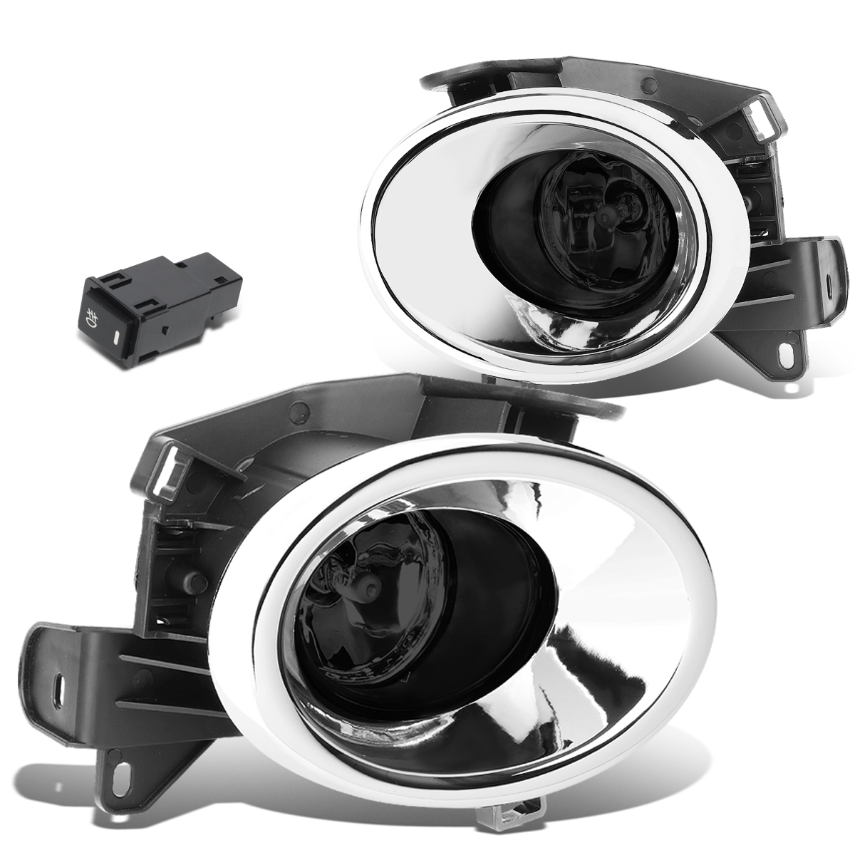 For 13-16 Nissan Pathfinder R52 Pair Front Bumper Driving Fog light/Lamp+Switch Smoked Lens 14 15 Left+Right