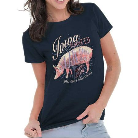 - Brisco Brands Corn Fed Iowa Farm State Pride Adult Short Sleeve T-Shirt