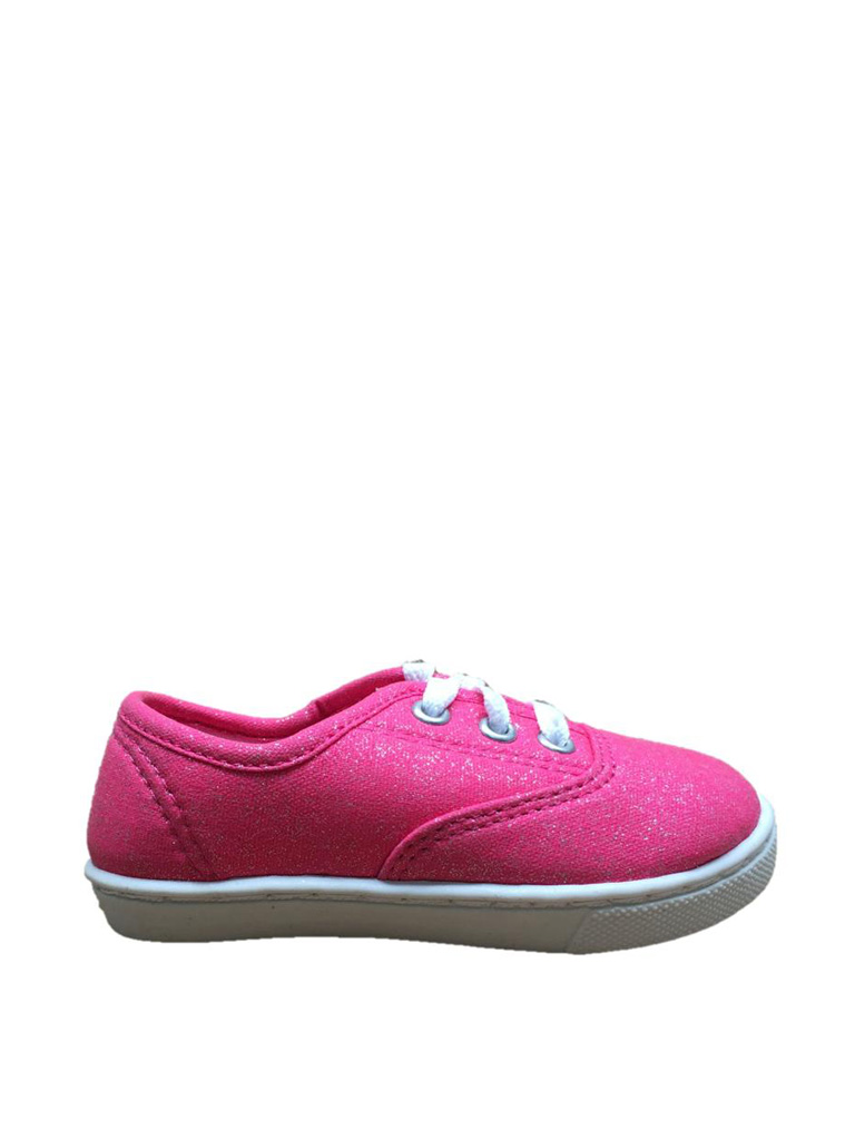 Faded Glory Toddler Girls' Hillary Canvas Lace Up Casual Shoe by PU TIAN CITY YONG FENG FOOTWEAR CO.,LTD