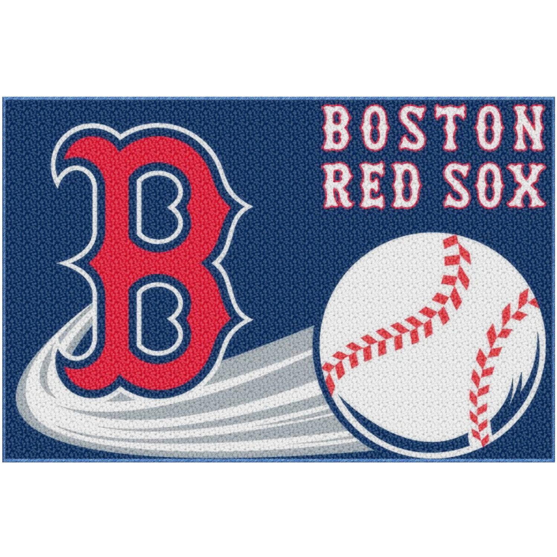 """mlb boston red sox 20"""" x 30"""" tufted bath rug - walmart"""