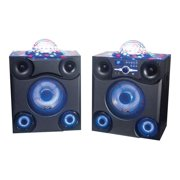 ION Audio Mega Party Express - Speakers - LCD - for PA system - wireless - Bluetooth - 3-way