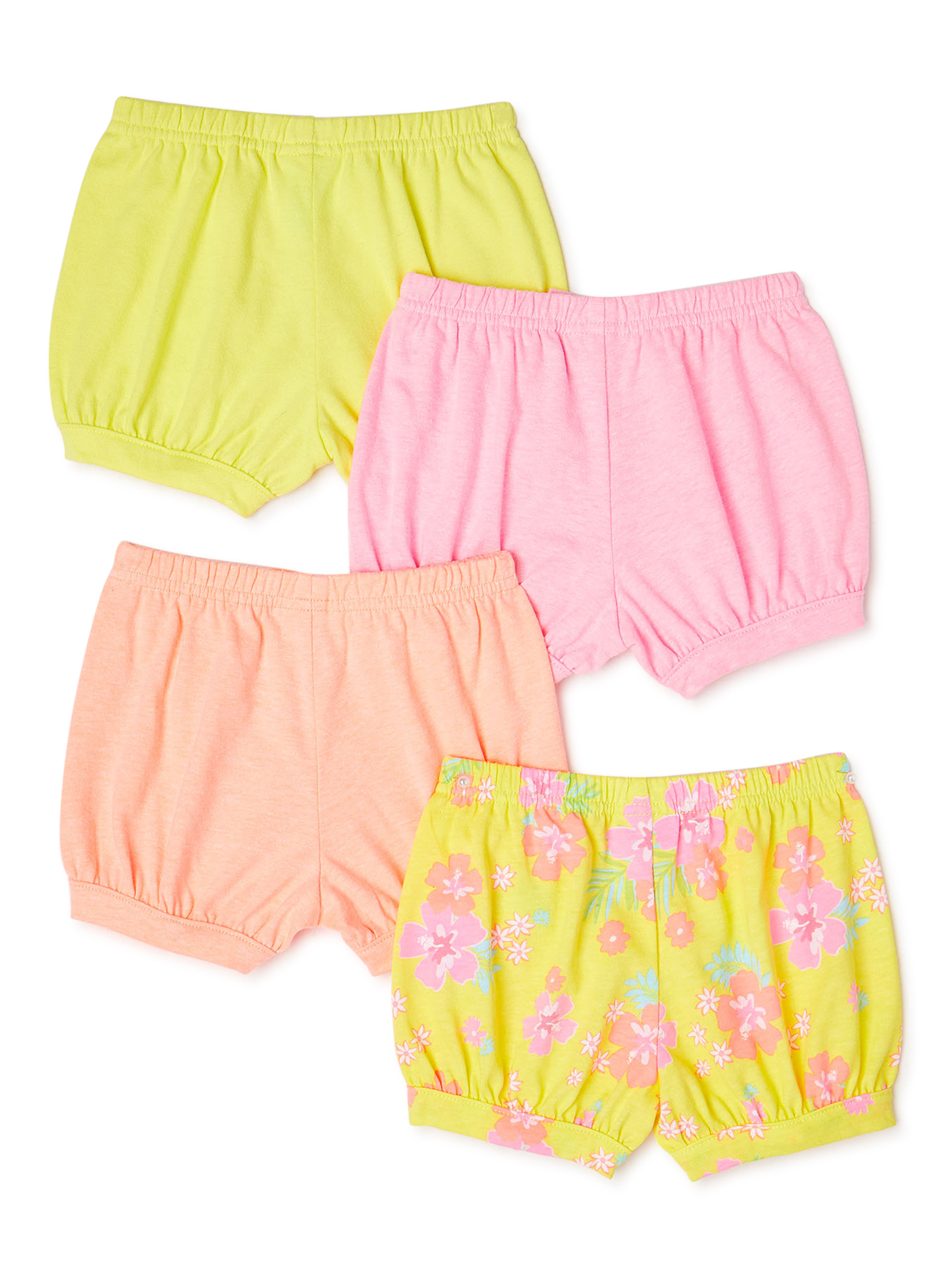 Bright Coral Easter Bunny High waist bloomers with bow belt girls baby