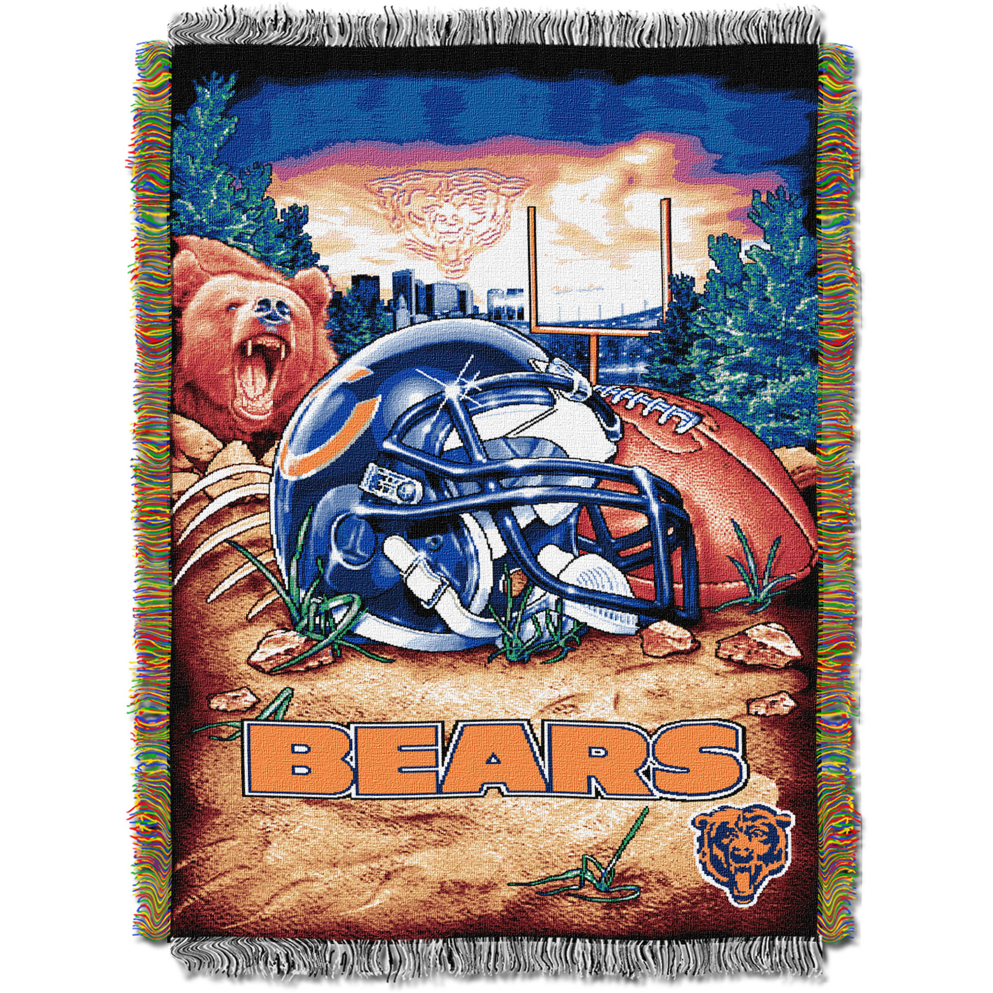 "NFL 48"" x 60"" Tapestry Throw Home Field Advantage Series- Bears"