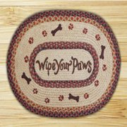 "Earth Rugs OP-081 Wipe Your Paws Design Rug, 20x30"", Burgundy/Black/Sage"