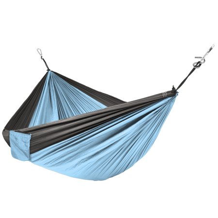 Best Choice Products Portable Nylon Parachute Hammock w/ Attached Stuff Sack- Blue