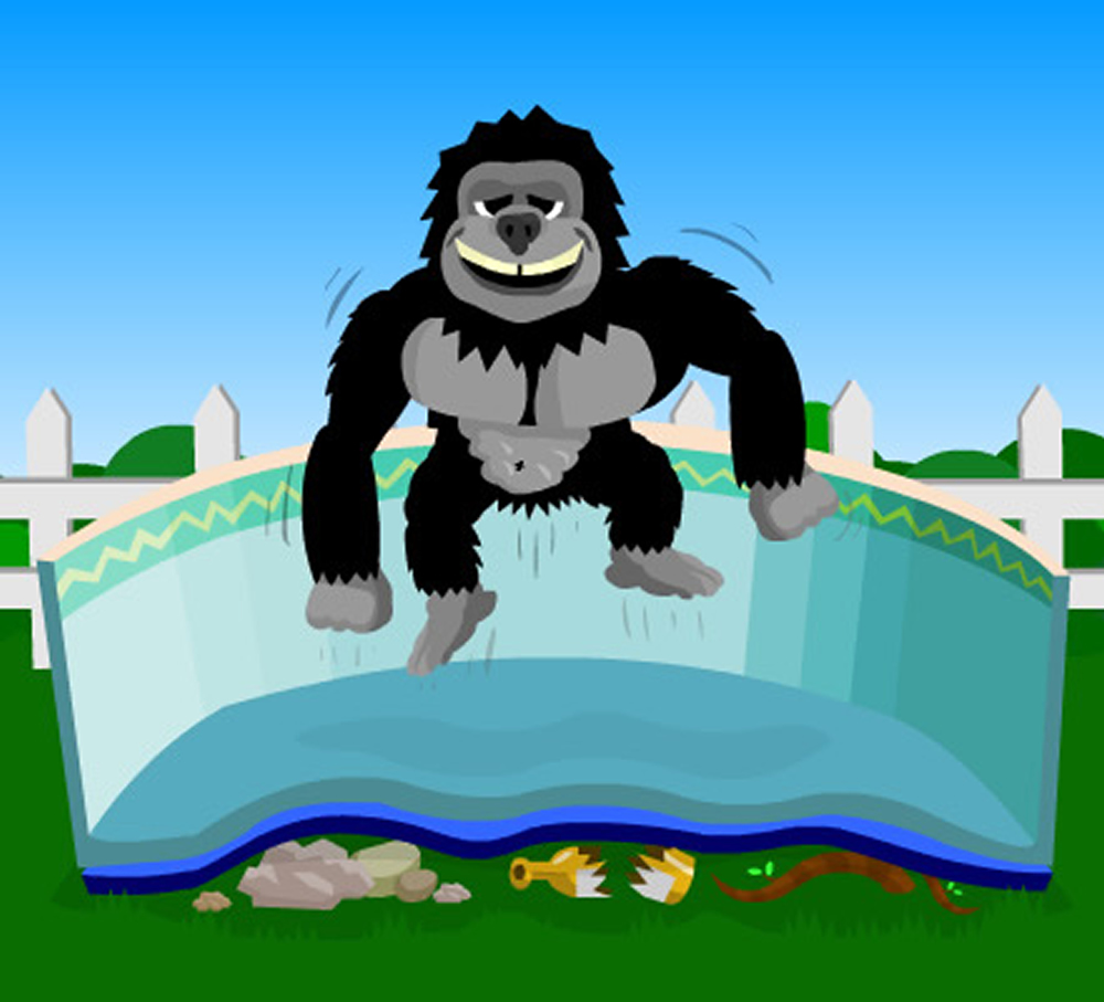12'x20' Oval Gorilla Floor Pad For Above Ground Swimming Pools
